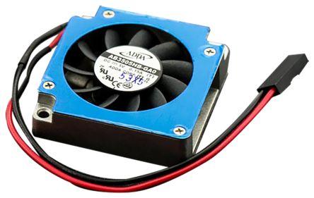 DFRobot Heatsink Cooling Fan, LattePanda, 34.5 x 34.5 x 10mm, PCB Surface Mount, Screw, Blue