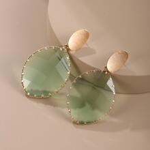 Geometric Crystal Decor Earrings