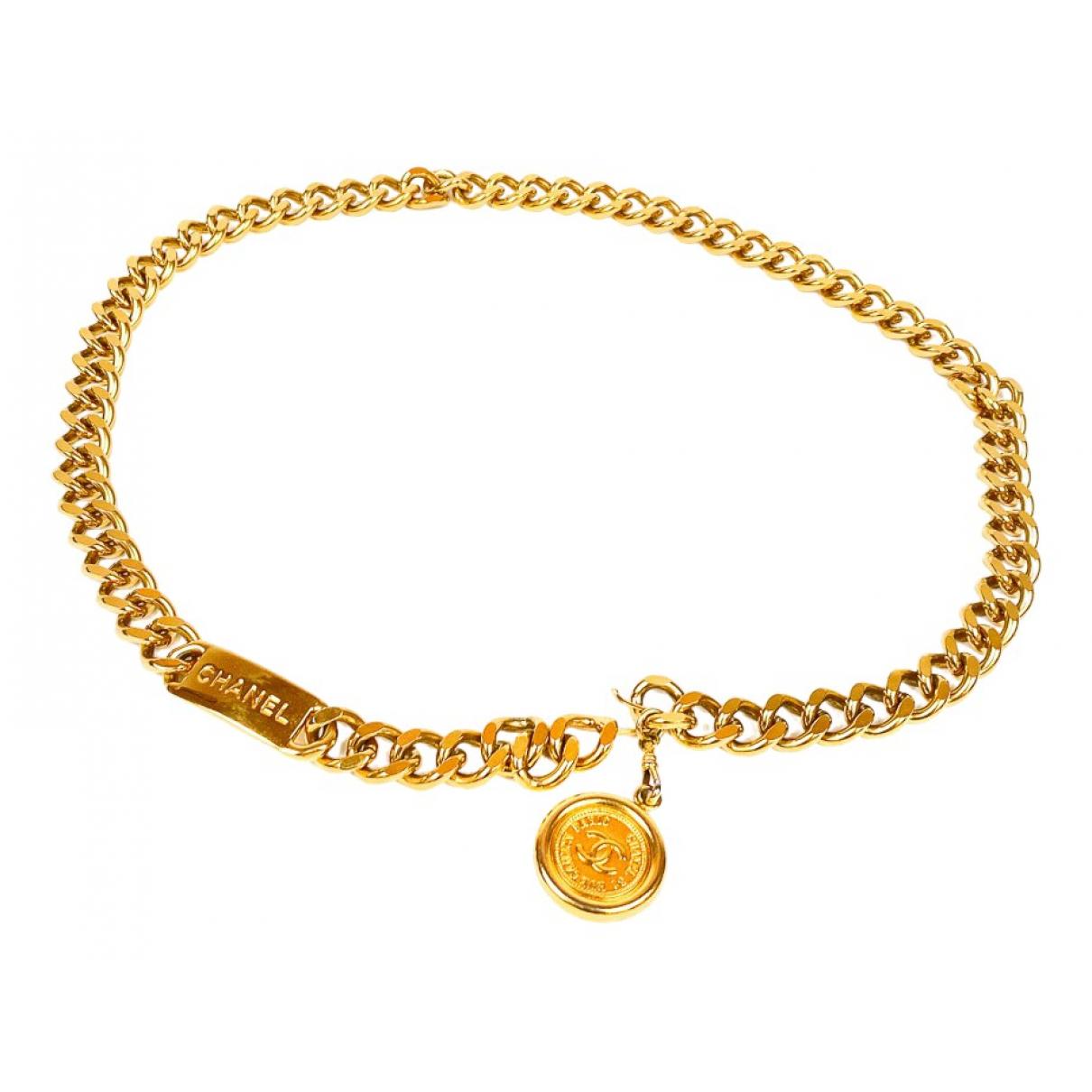 Chanel \N Gold Metal belt for Women 90 cm