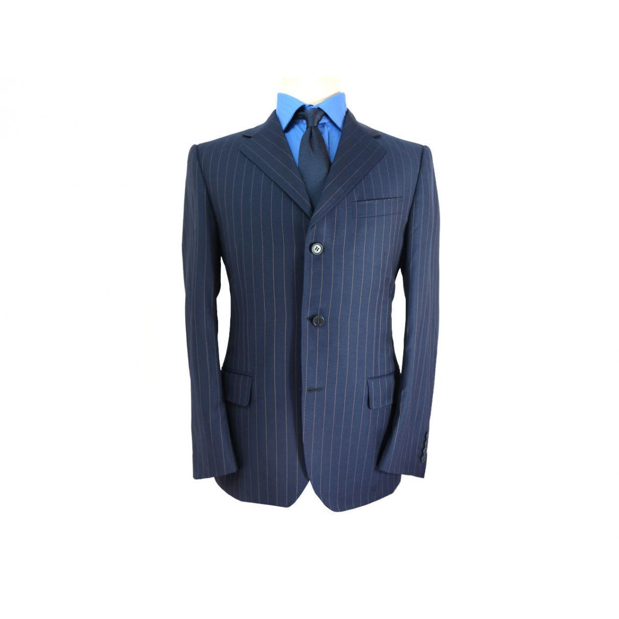 Canali - Vestes.Blousons   pour homme en laine - bleu