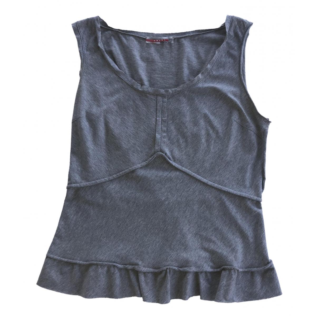Prada \N Grey Cotton  top for Women M International