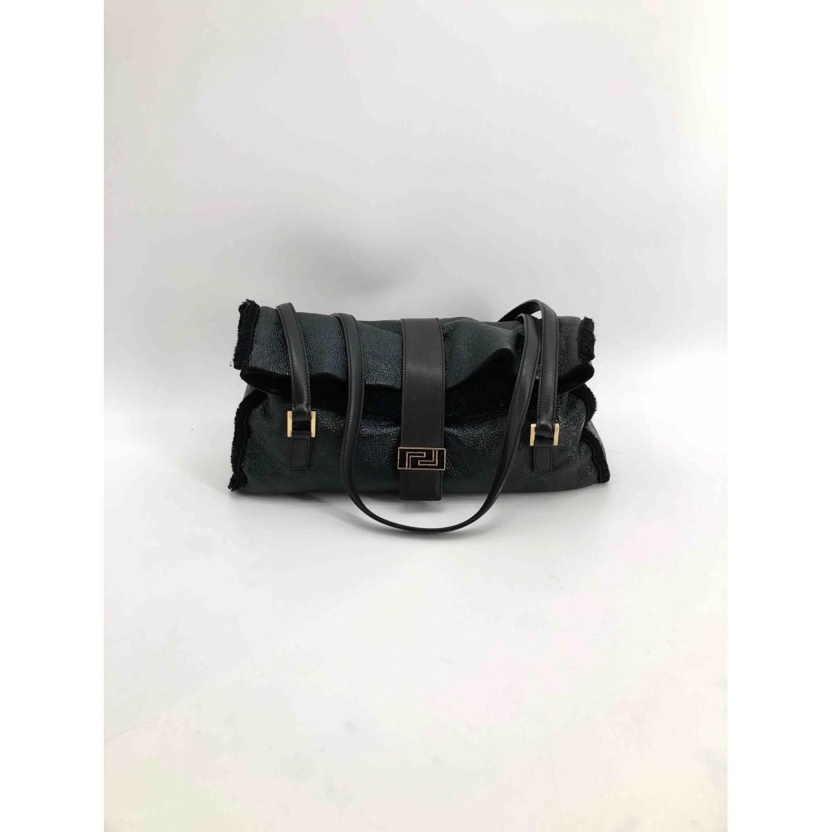 Versace \N Black Shearling handbag for Women \N