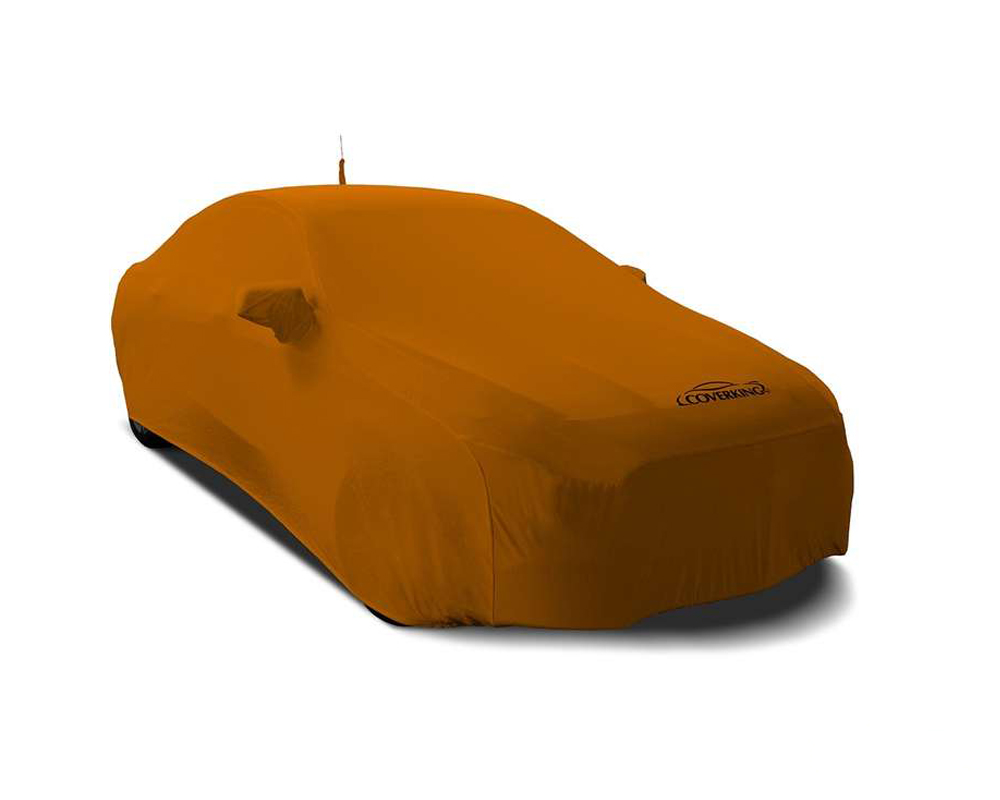 Coverking CVC3SS81PR9332 CVC3SS81 Satin Stretch Grabber Orange Custom Car Cover Porsche 718 Cayman 16-18