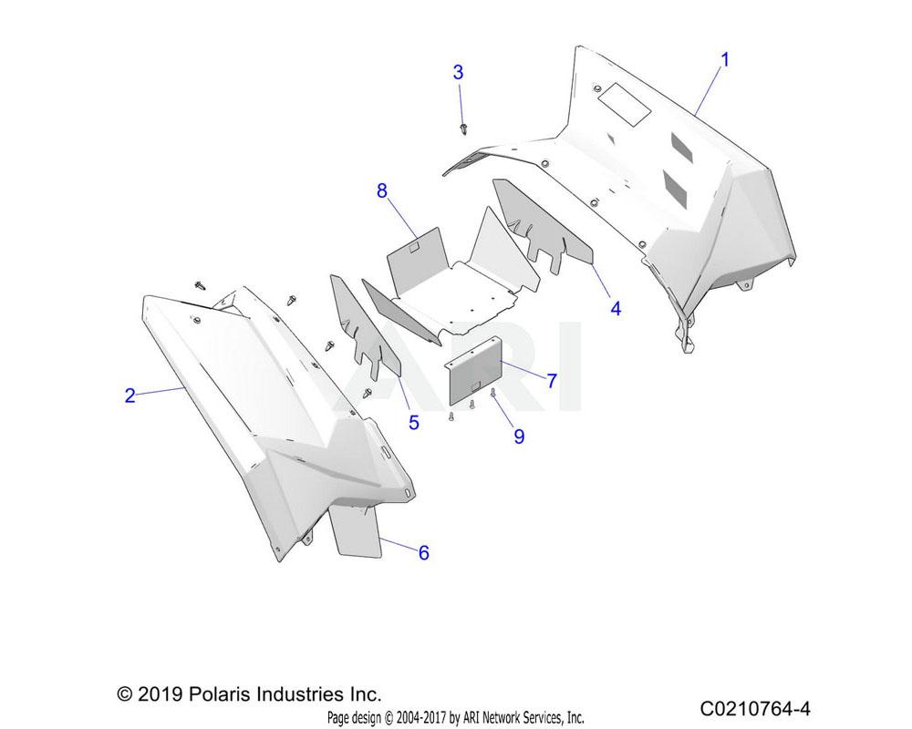 Polaris OEM 2635753-649 ASM-RR, CAB, LH, SCRAM, EU, H.RED | [INCL. WARNING DECALS]