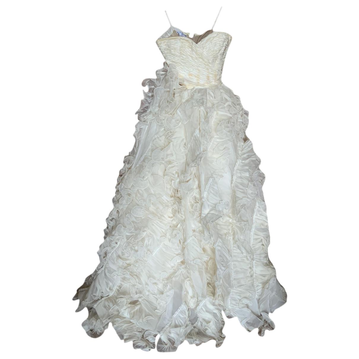 Oscar De La Renta \N Kleid in  Weiss Synthetik