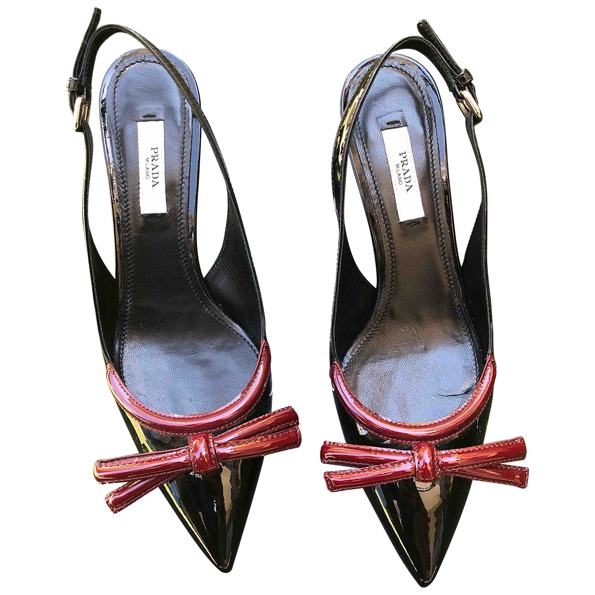 Prada \N Black Leather Heels for Women 35.5 EU