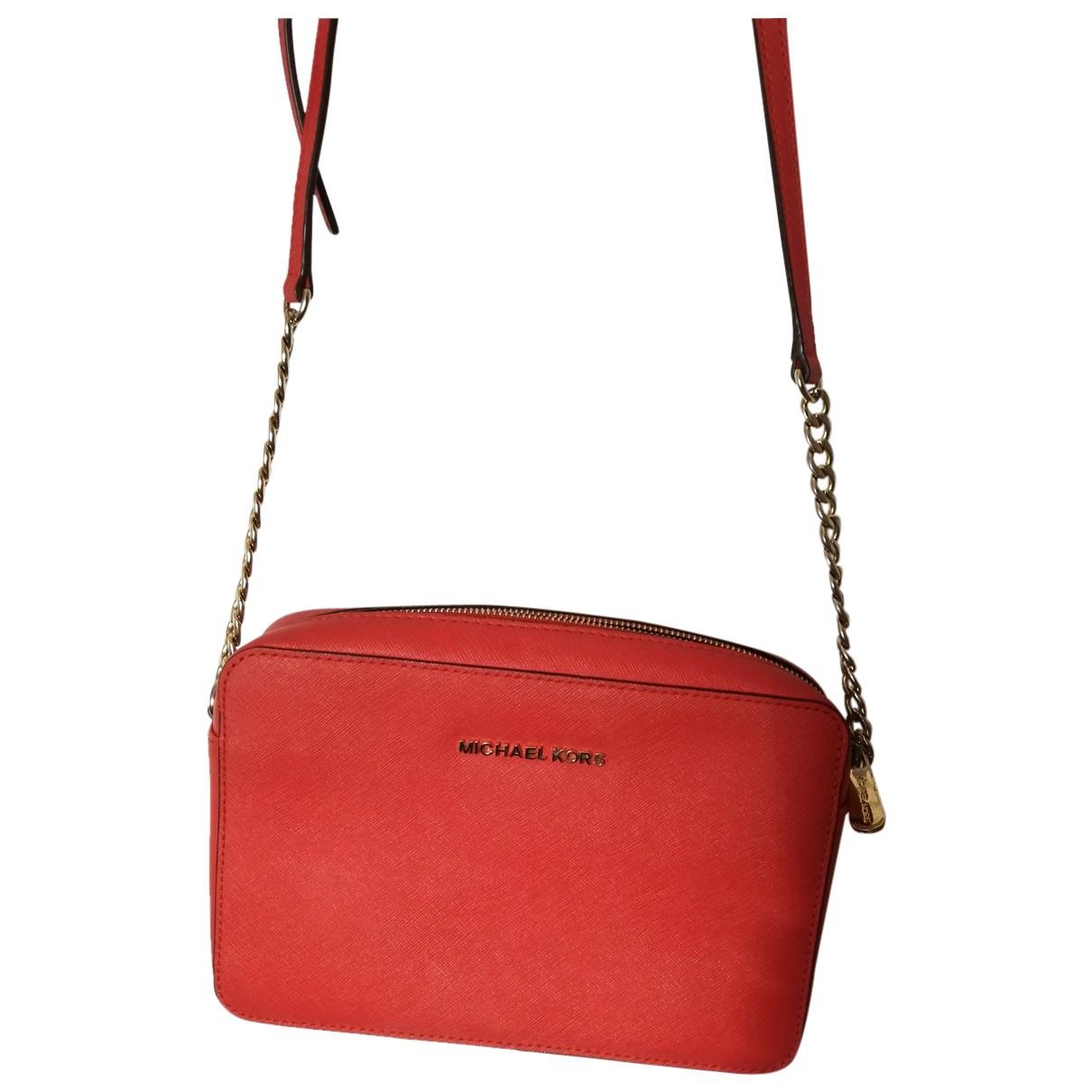 Michael Kors Jet Set Orange Leather Clutch bag for Women N