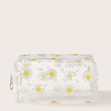 Daisy Pattern Clear Makeup Bag