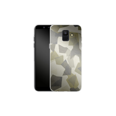 Samsung Galaxy A6 Silikon Handyhuelle - Geometric Camo Green von caseable Designs