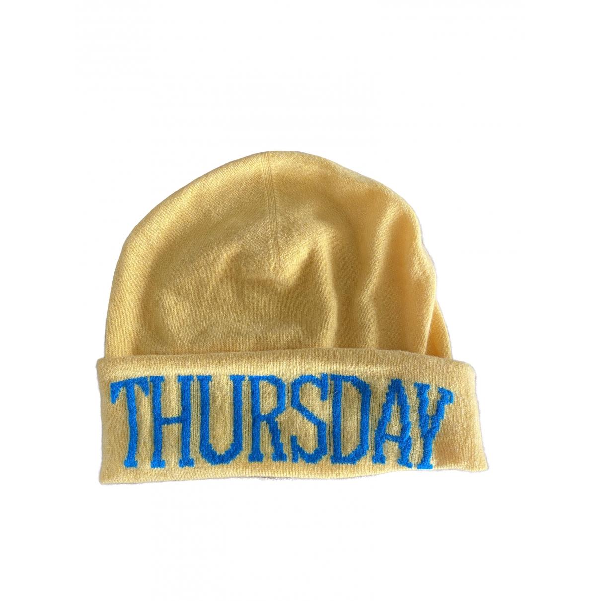 Alberta Ferretti - Chapeau   pour femme en laine - jaune