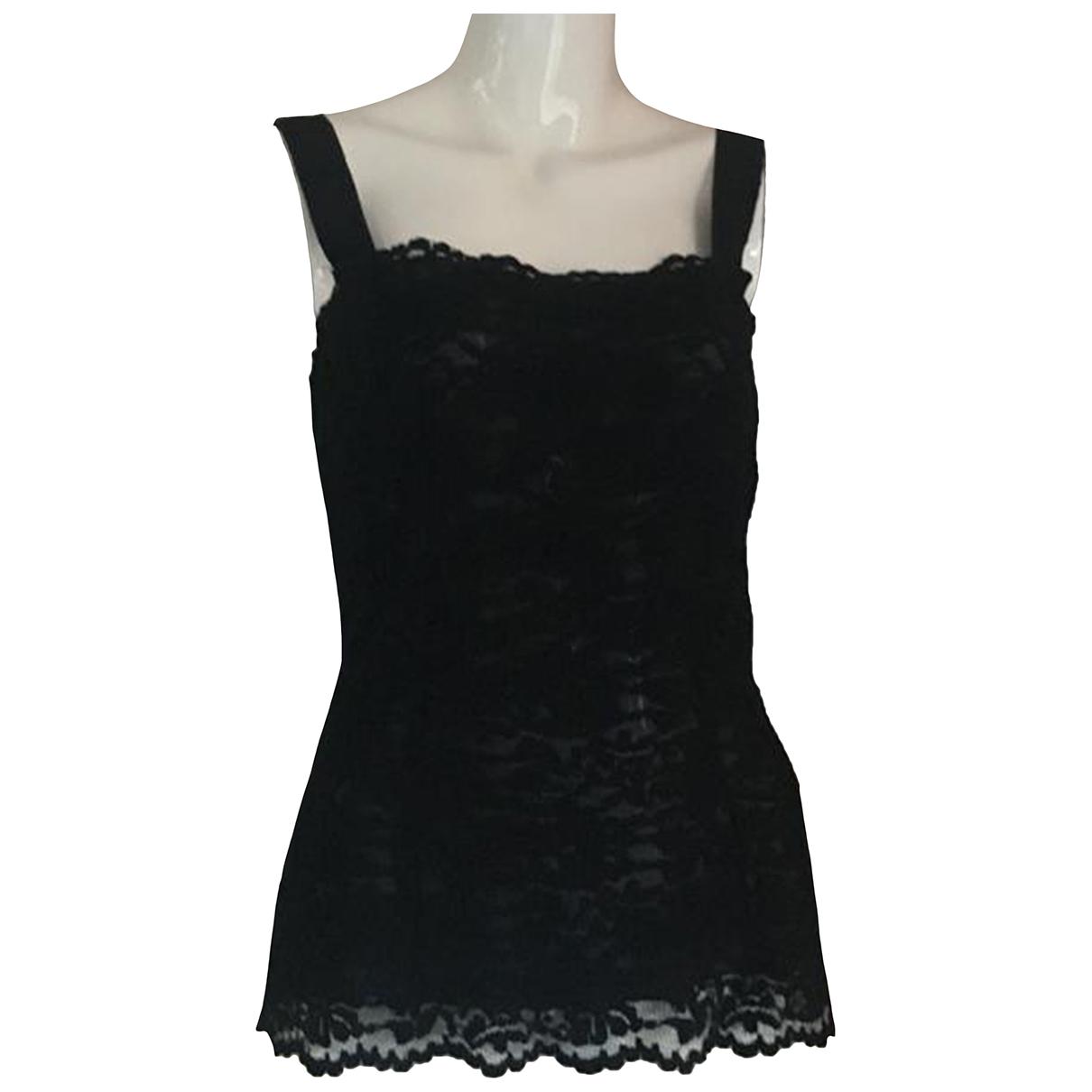 D&g - Top   pour femme en coton - noir