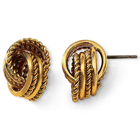 Monet Gold-Tone Knot Earrings, One Size , Yellow