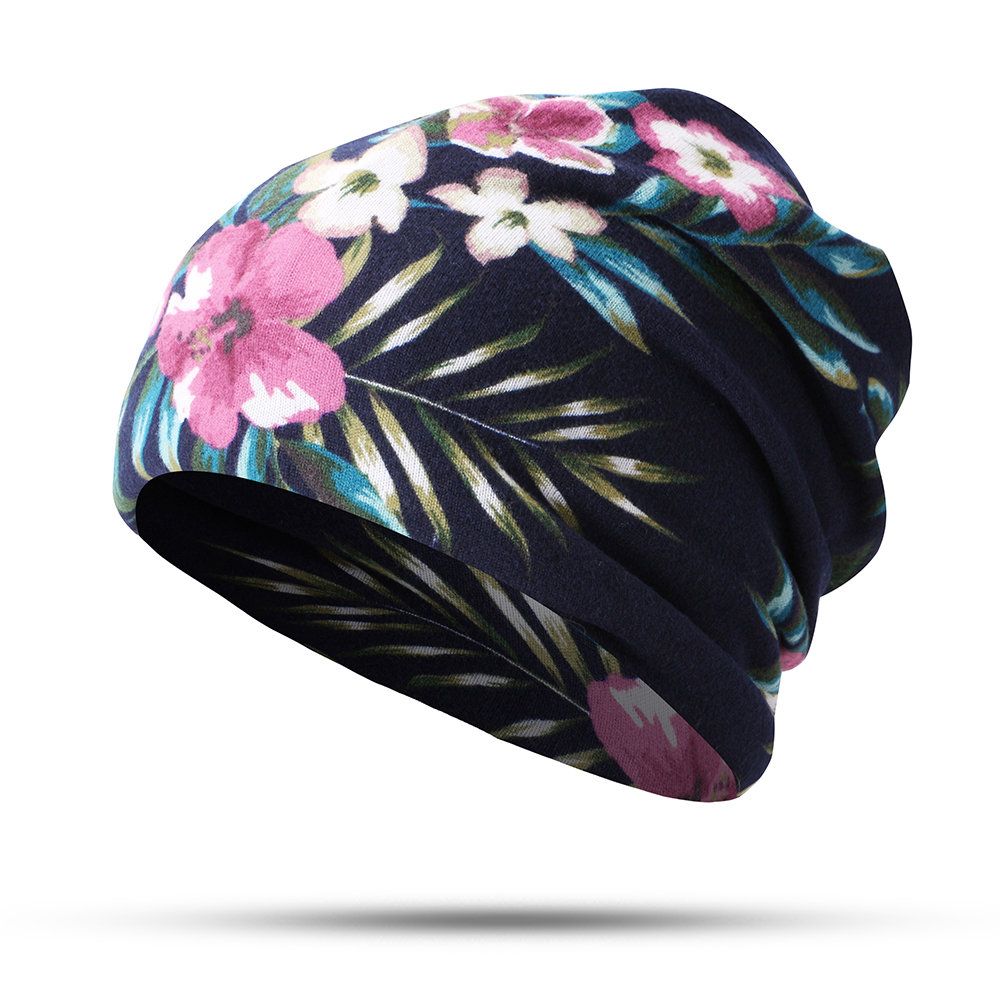 Woman Cotton Printed Hat Female Headscarf Neck Dual-use Ear protection