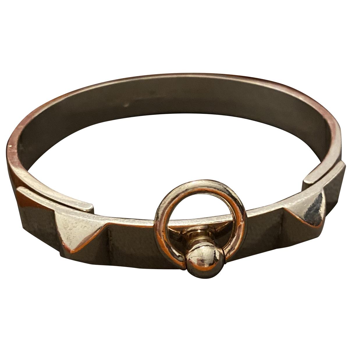 Hermes - Bracelet Collier de chien  pour femme en argent - argente