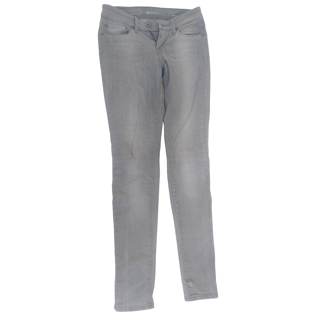 Levi's \N Grey Cotton Trousers for Women 34 FR