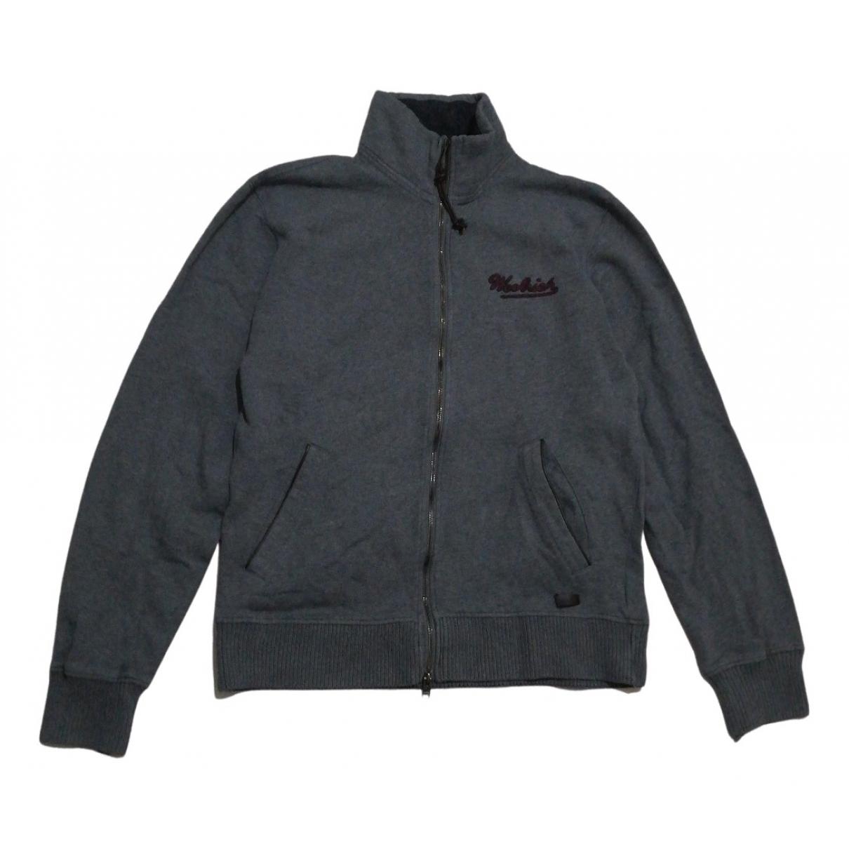Woolrich \N Pullover.Westen.Sweatshirts  in  Grau Baumwolle