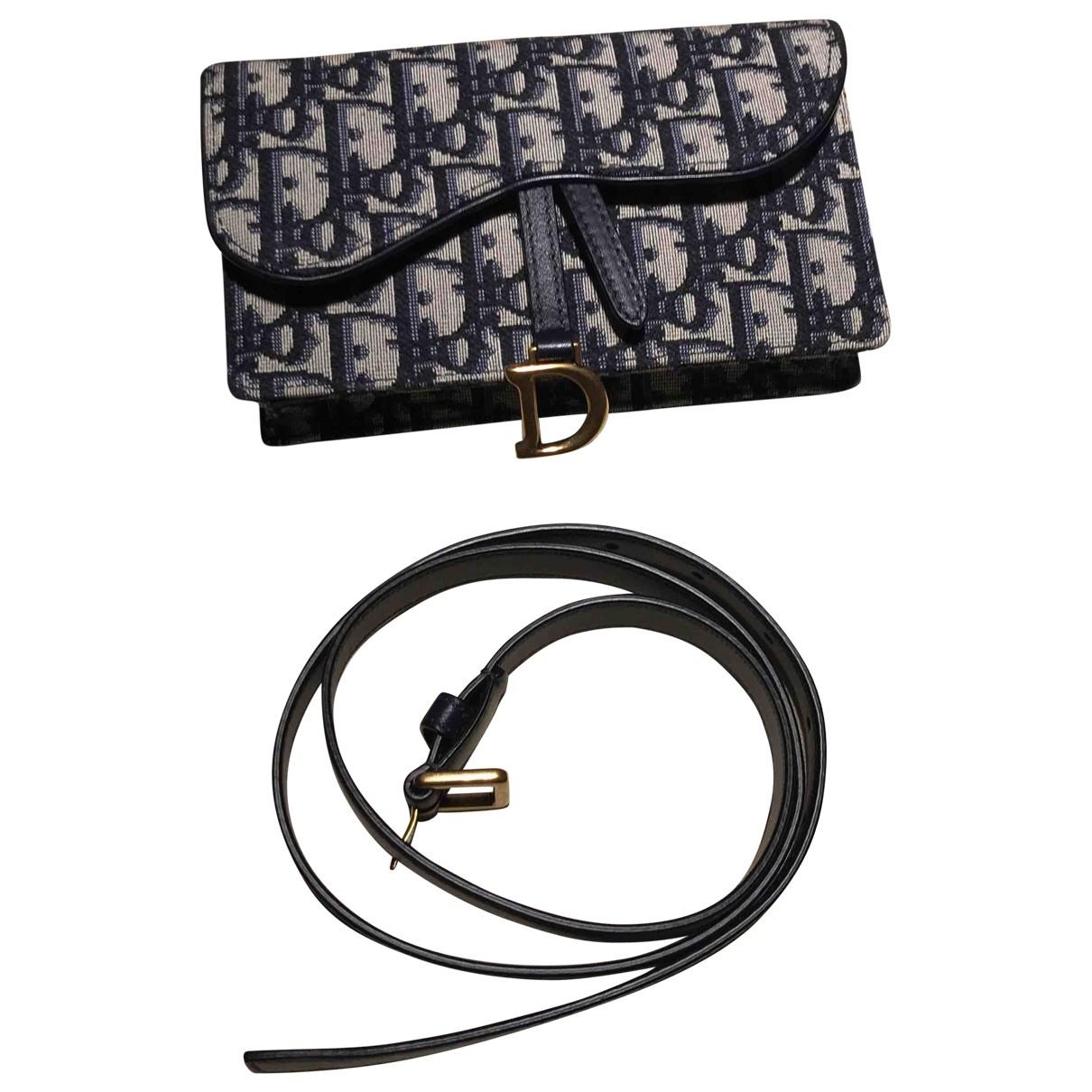 Dior - Pochette Saddle pour femme en toile - bleu