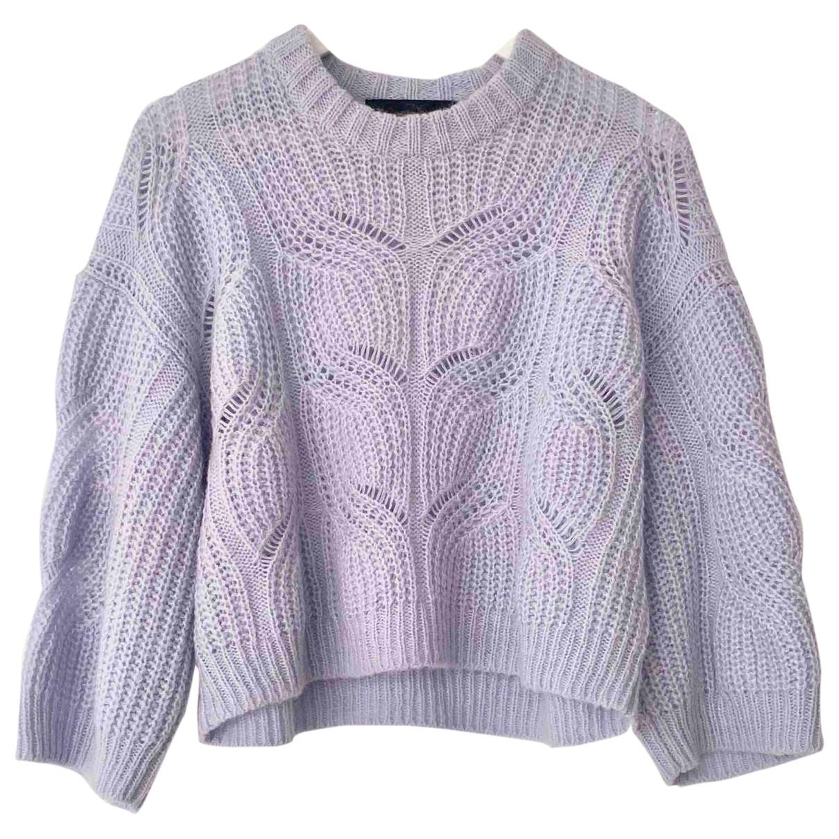 Designers Remix - Pull   pour femme en laine - violet