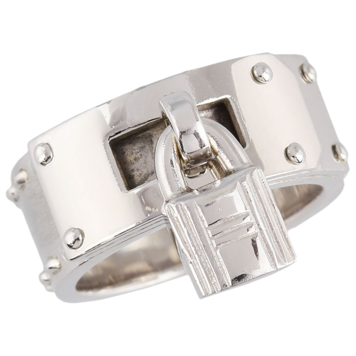 Hermes - Bague Kelly pour femme en or blanc - argente