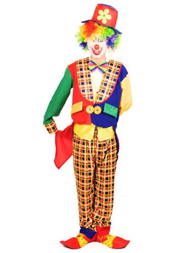 Milanoo Mardi Gras Adults Easy Clown Costume Jumpsuit Circus Costume