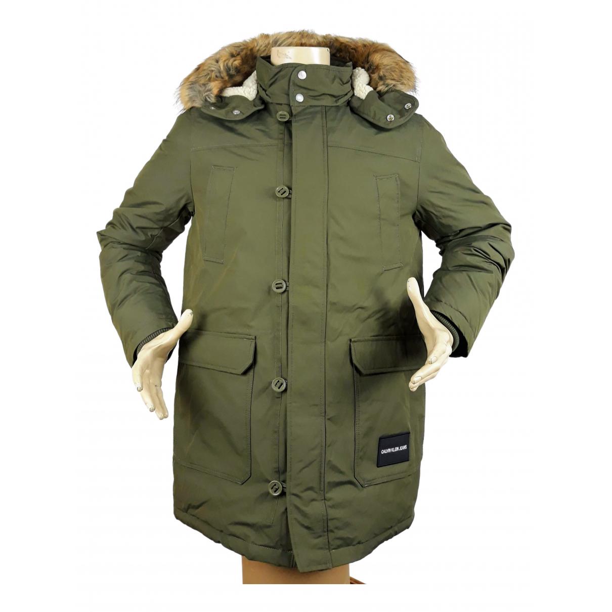 Calvin Klein N Khaki Cotton coat  for Men M International