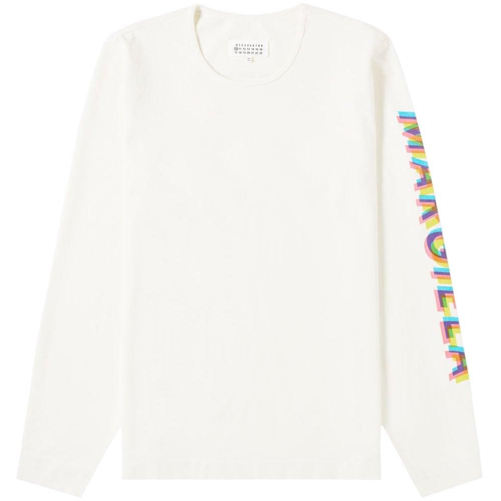 Maison Margiela Sleeve Logo Sweatshirt Cream Colour: OF-WHITE, Size: MEDIUM