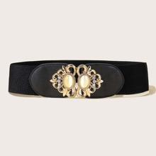 Gemstone Decor Elastic Belt