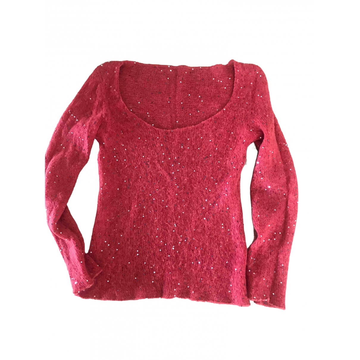 Non Signé / Unsigned \N Red Wool Knitwear for Women 42 IT