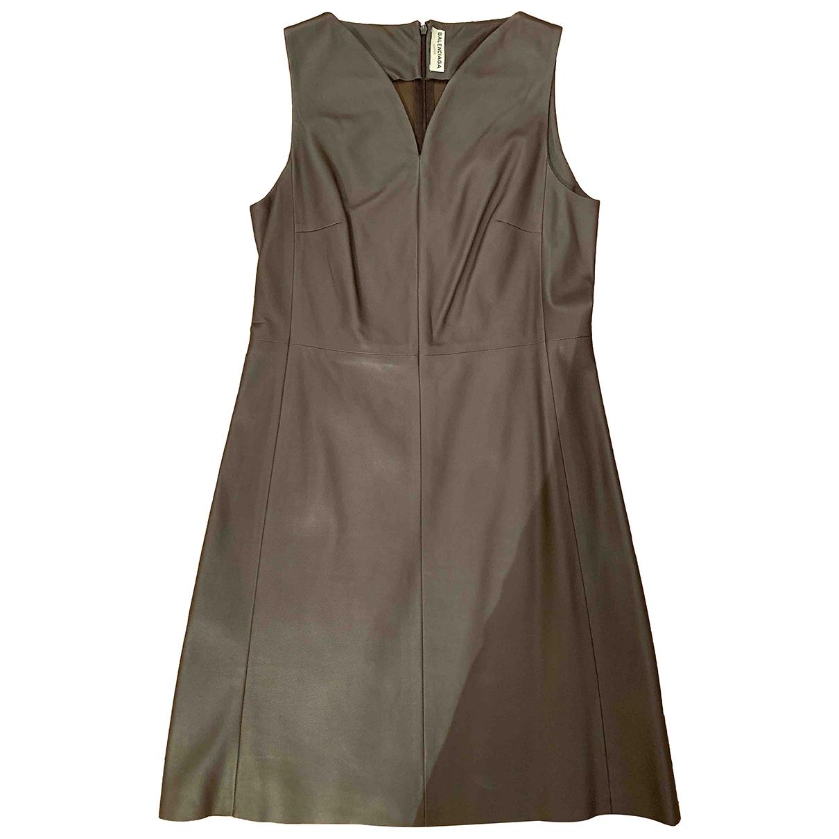 Balenciaga - Robe   pour femme en cuir