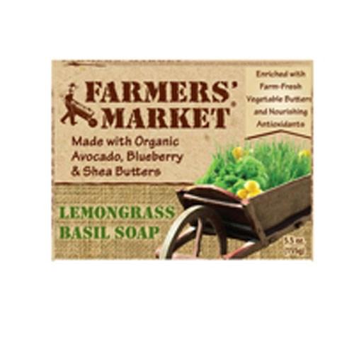 Organic Bar Soap LemonGrass & Basil 5.5 oz by Farmers market