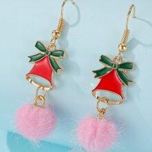 Weihnachten Ohrringe mit Pompons
