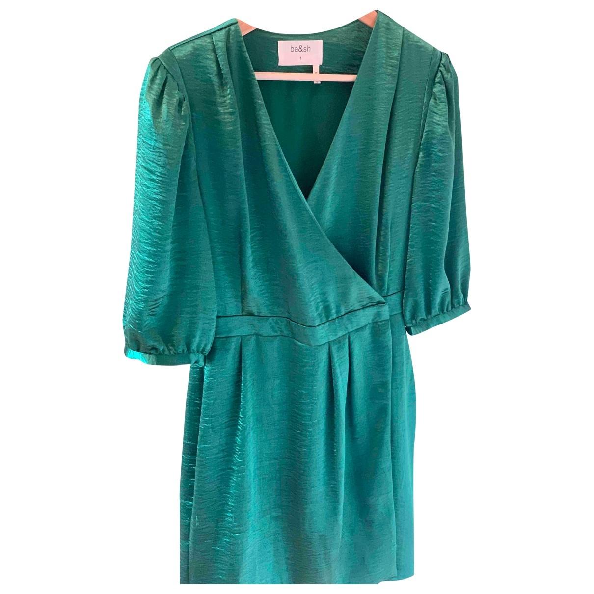 Ba&sh \N Green Silk dress for Women 1 US