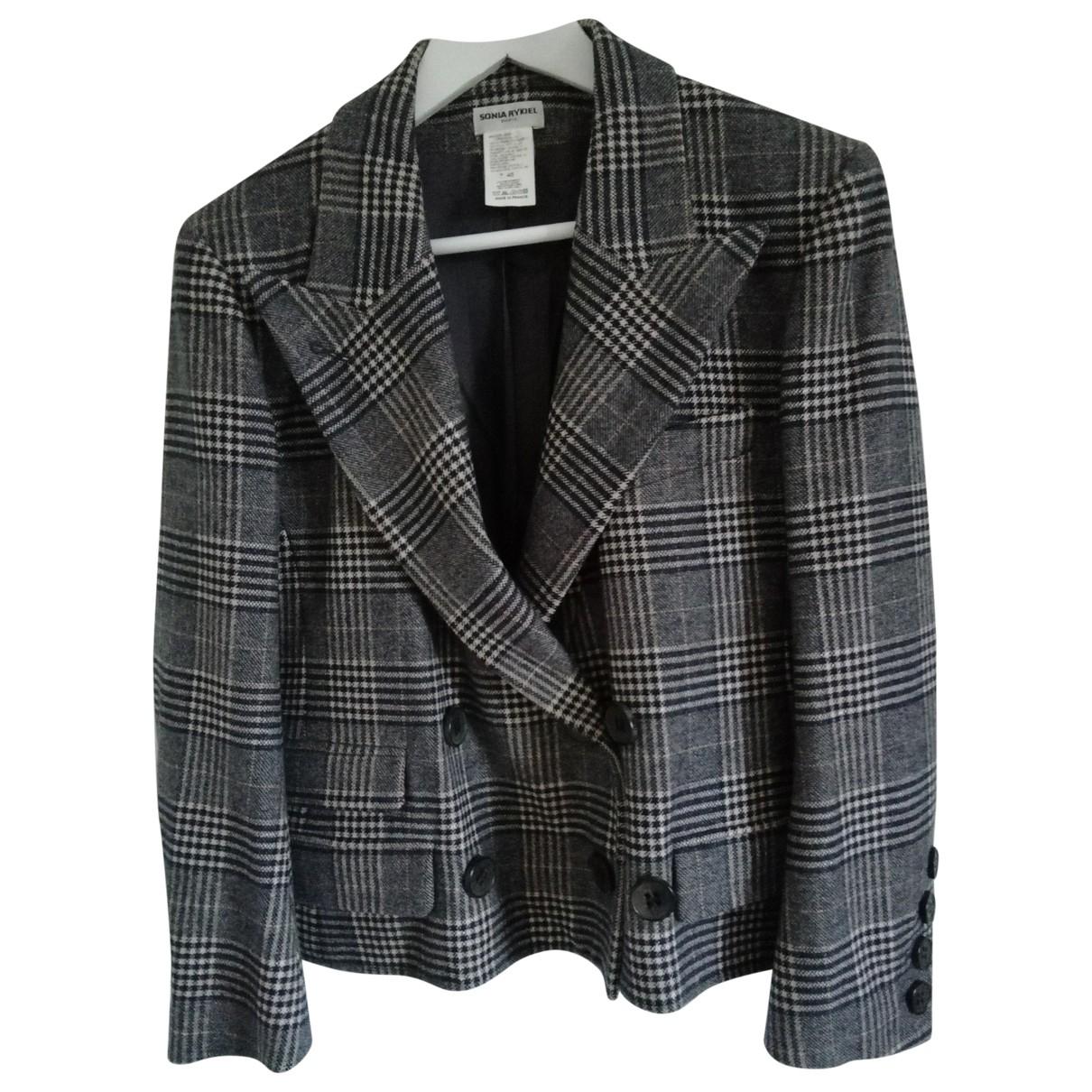 Sonia Rykiel \N Anthracite Wool jacket for Women 46 FR
