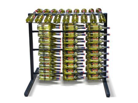 871566 Epicureanist Island Display Rack with 6 Epicureanist 1 Deep Wire Racking(72 Wine Bottles)  in