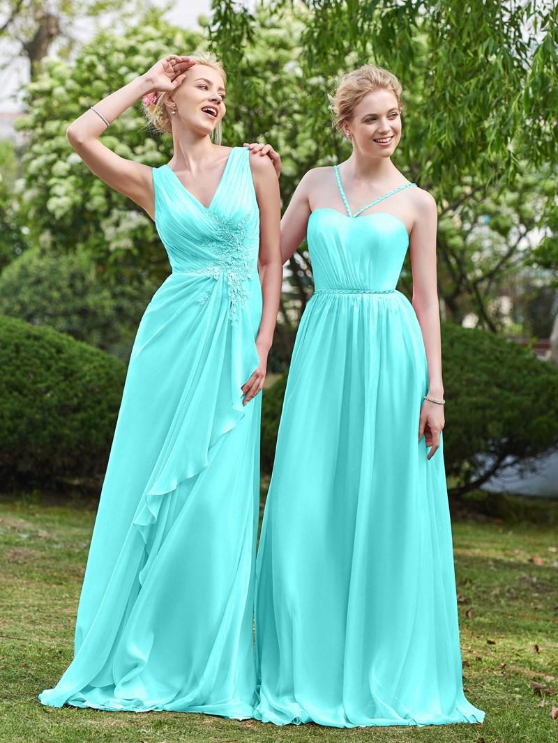 Ericdress V Neck A Line Long Bridesmaid Dress