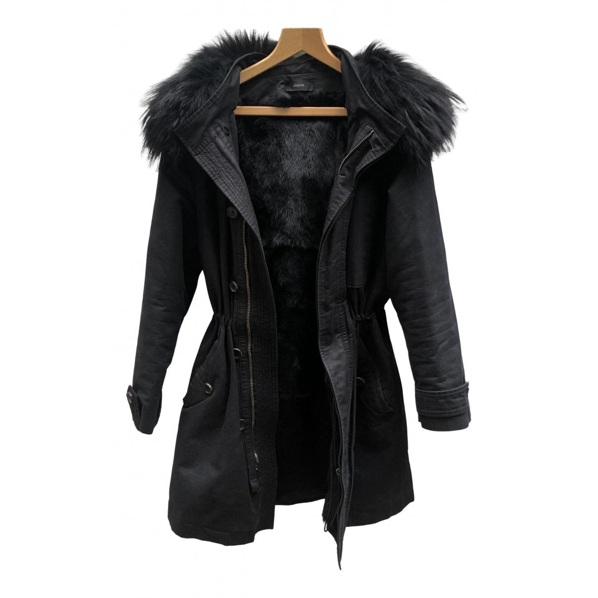 Joseph - Manteau   pour femme en renard - noir