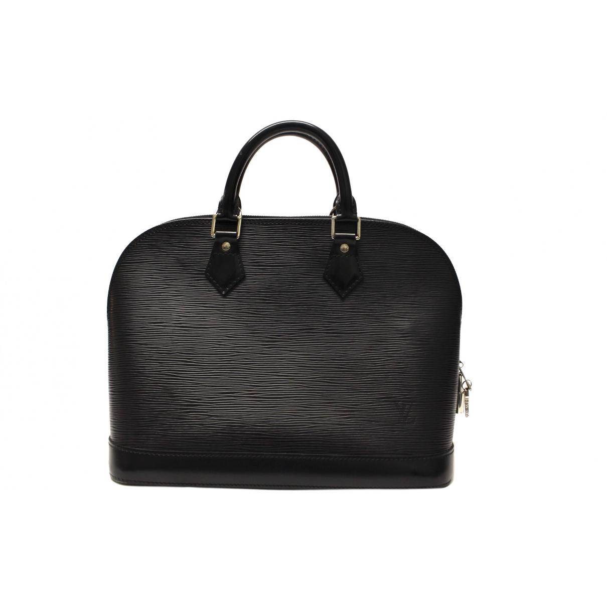 Louis Vuitton Alma Black Leather handbag for Women \N