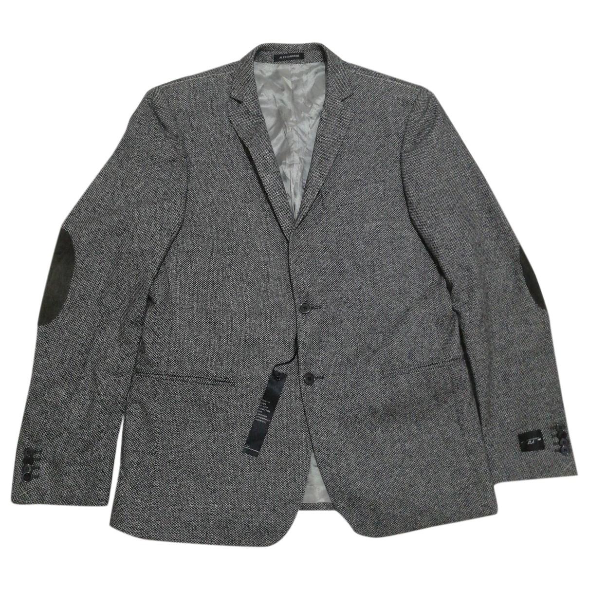 Alessandrini \N Anzuege in  Grau Wolle