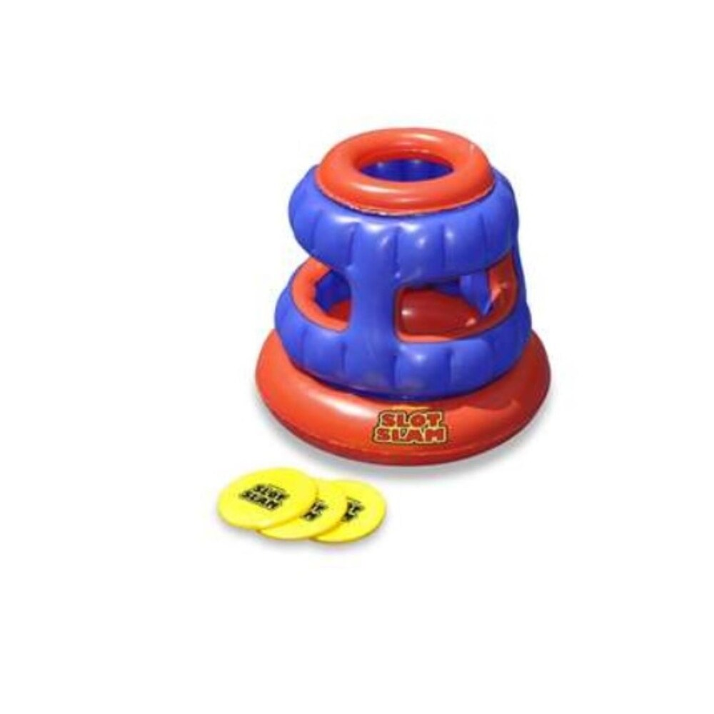 Water Sports Inflatable Slot Foam Disc Target Toss Pool Game (Orange)