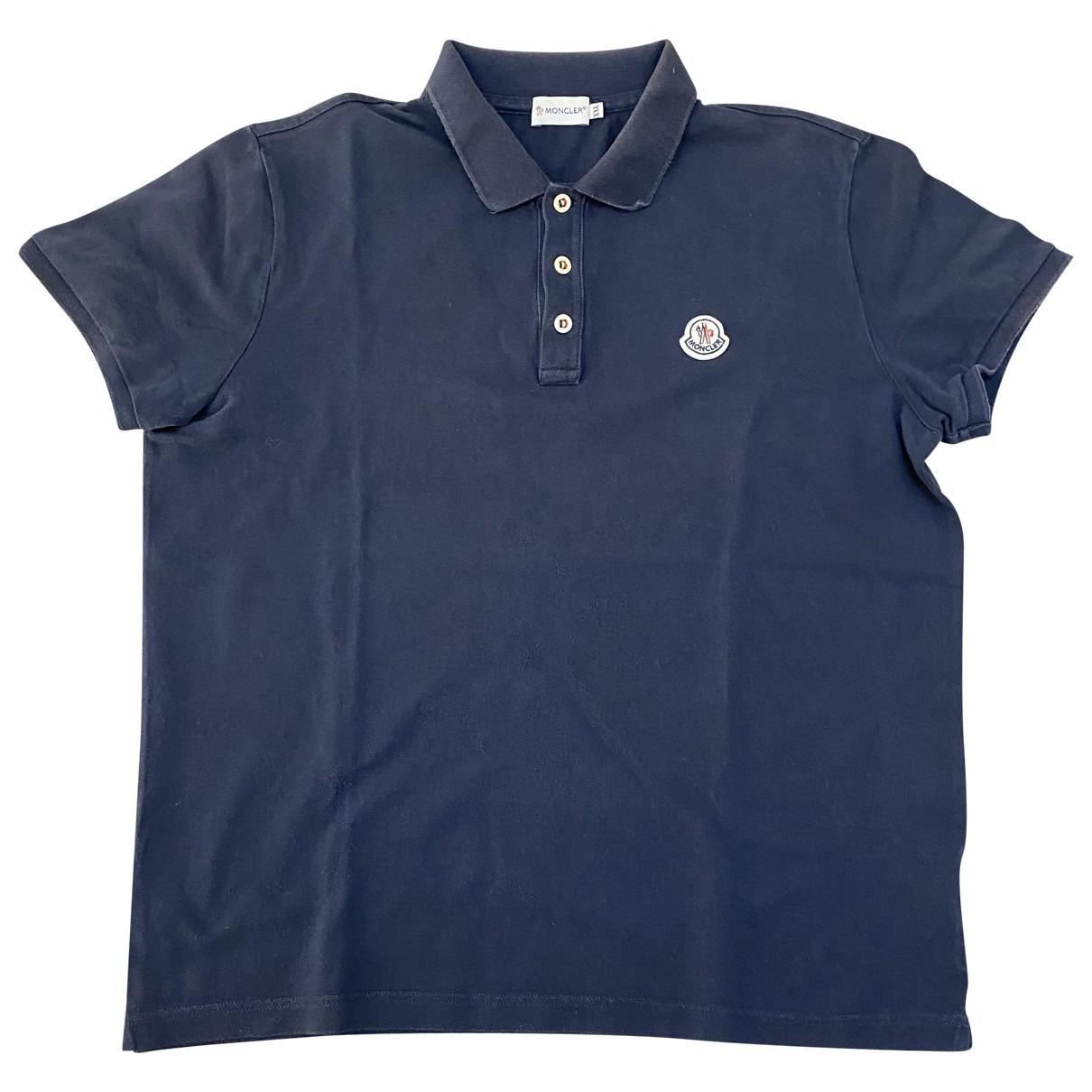 Moncler \N Poloshirts in  Blau Baumwolle