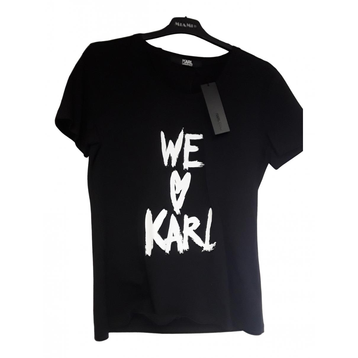 Karl Lagerfeld N Black Cotton  top for Women L International
