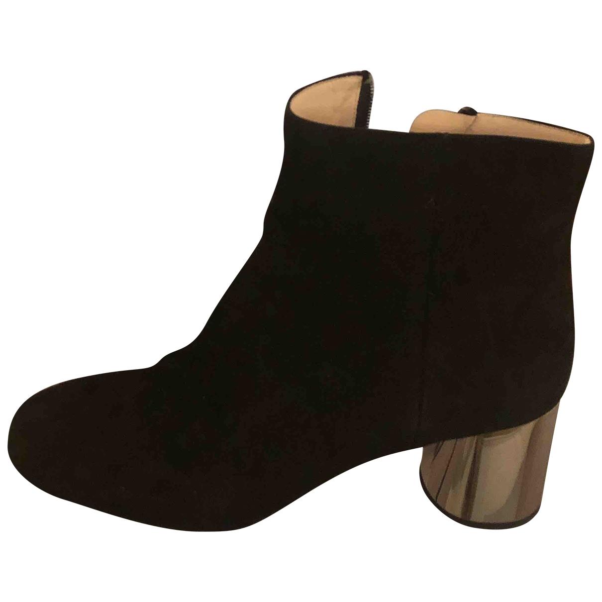 Prada - Boots   pour femme en suede - noir