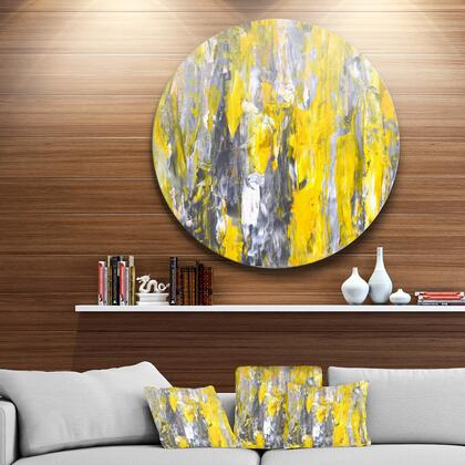 MT6268-C38 Grey And Yellow Abstract