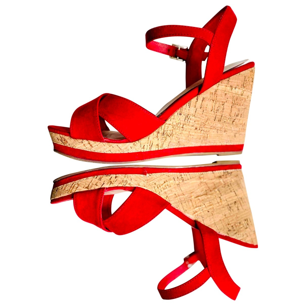Non Signe / Unsigned \N Espadrilles in  Rot Samt