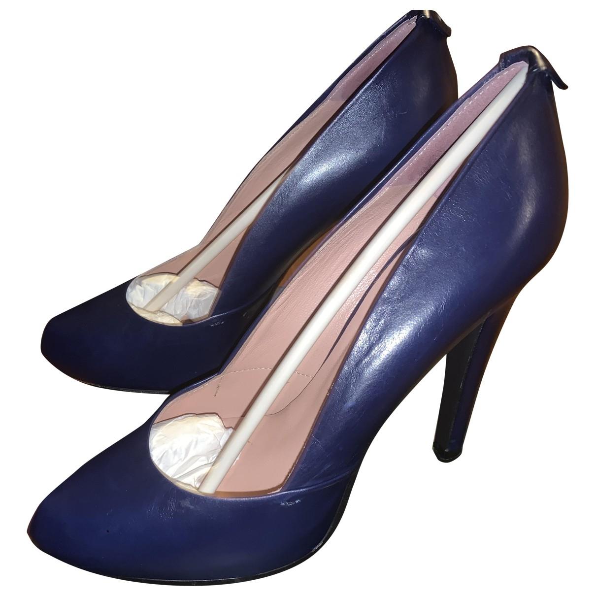 Mauro Grifoni - Escarpins   pour femme en cuir - bleu
