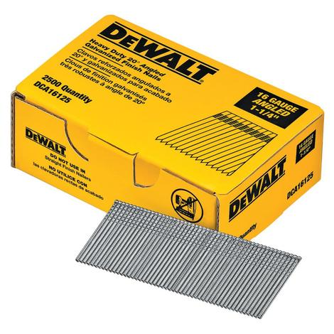 DeWalt 1-1/4 In. 20Degree 16Gauge Finishing Nails 2.5 m