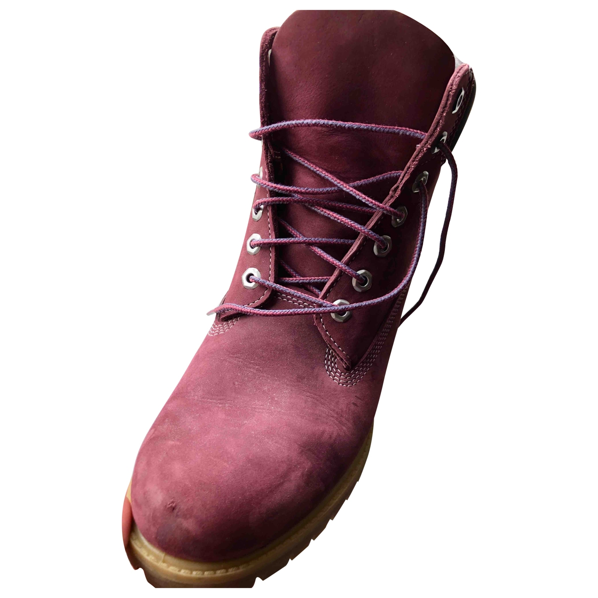 Timberland \N Burgundy Leather Boots for Men 43 EU