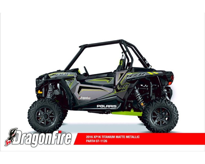 DragonFire 07-1106 Door Insert Graphics Nuclear Sunset Polaris RZR XP 1000 2014-2015