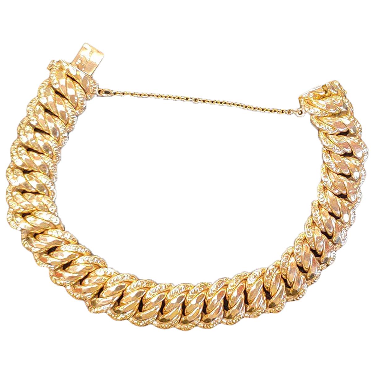 - Bracelet  Maille Americaine pour femme en or jaune - dore