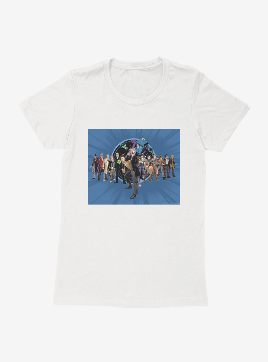 Doctor Who Twelfth Doctor Incarnations Womens T-Shirt